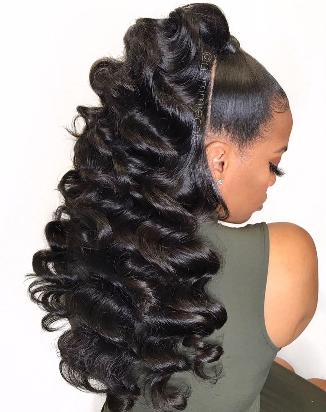 High Curly Weave Ponytail