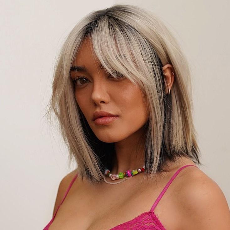 Black Peekaboo Highlights for Blonde Hair