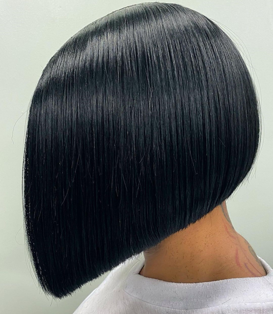 Straight Middle Part Bob Weave