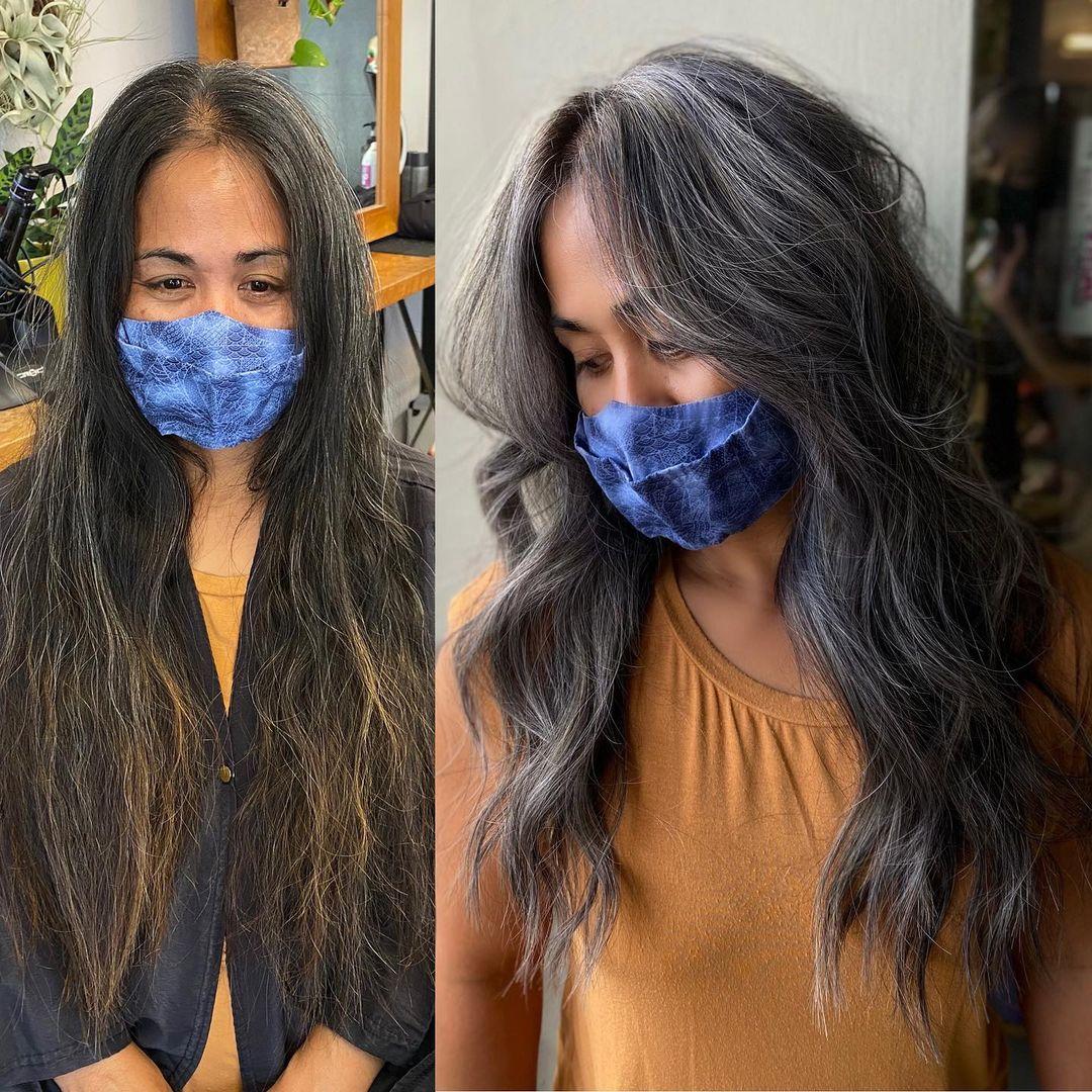 Transitioning to Gray for Long Dark Hair