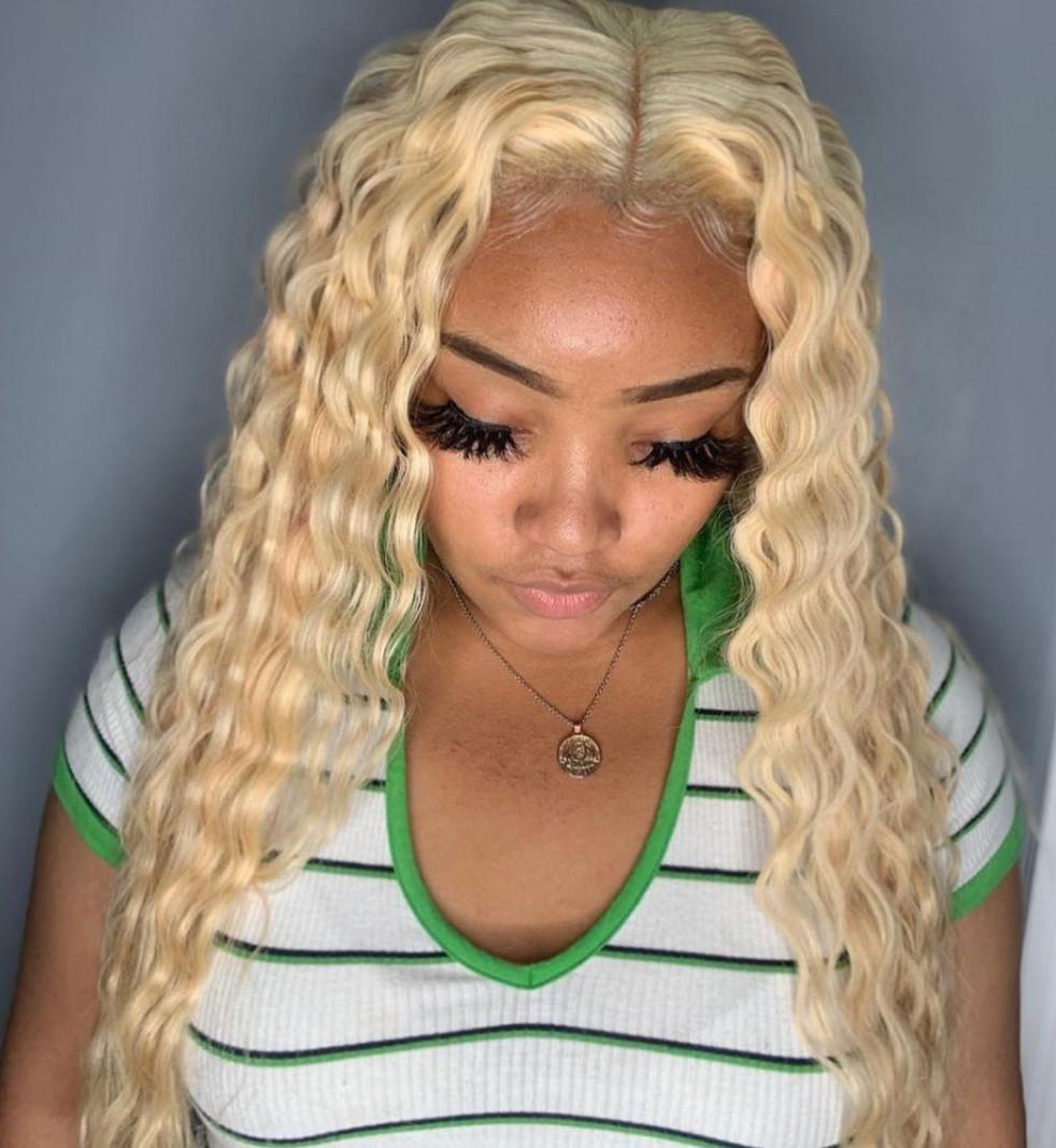 Wavy Blonde Sew In Style
