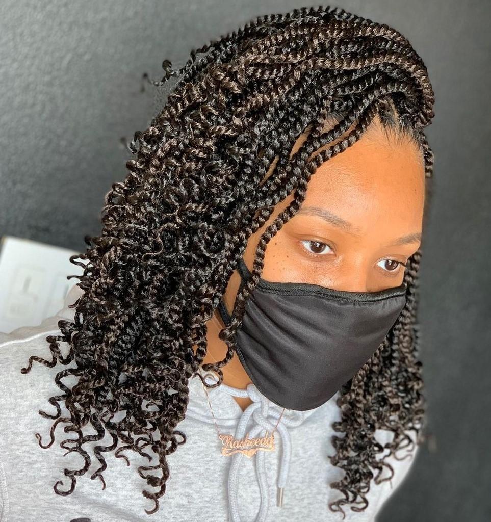 Crochet Curly Twist Braids