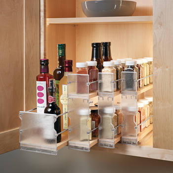 individual pull out spice rack wooden