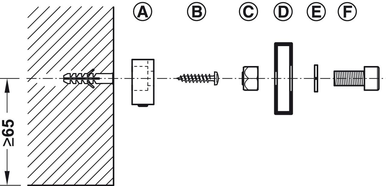 Rail De Fixation Murale Pour Miroir D Ef Bf Bdpaisseur 4 C3 A0 6 Mm Set De Fixation Murale Pour Rail De Roulement Dans La