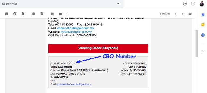 Buyback Order PG