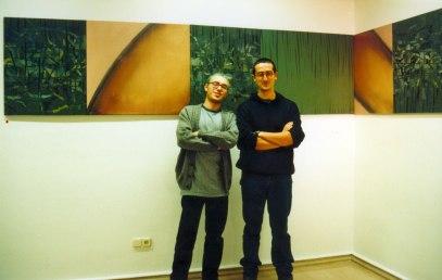 Con Richi en la Sala Araba, 1996.