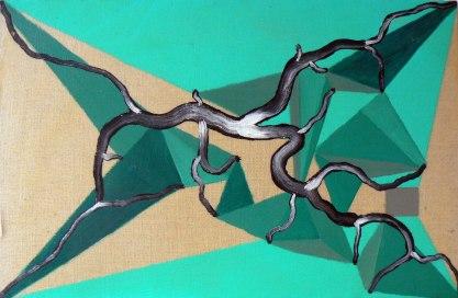 S/T. Acrílico y óleo sobre lienzo, 42x27. 1999.