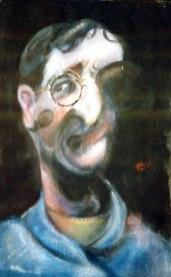 Autorretrato. Óleo sobre lienzo, 35x27. 1994. Colección Mayendia.