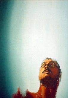 Autorretrato. Óleo sobre lienzo, 65x65, detalle. 1995. Maidstone, UK.