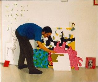 S/T. Óleo sobre lienzo, 60x80. 2000. Robando en el estudio de Vaquero.