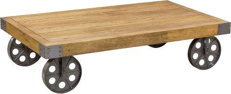 bluebone re engineered coffee table with wheels