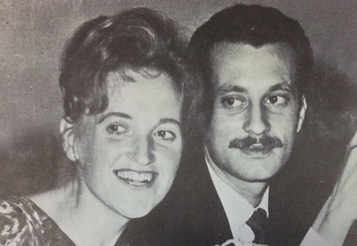 غسان كنفاني وزوجته آني