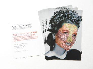 """The Invitation for """"The Embroidered Image"""", Robert Mann Gallery, NY"""