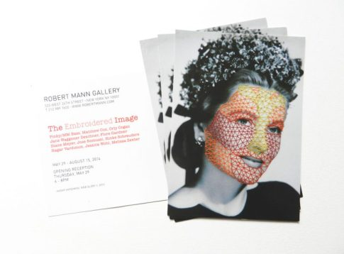 "The Invitation for ""The Embroidered Image"", Robert Mann Gallery, NY"