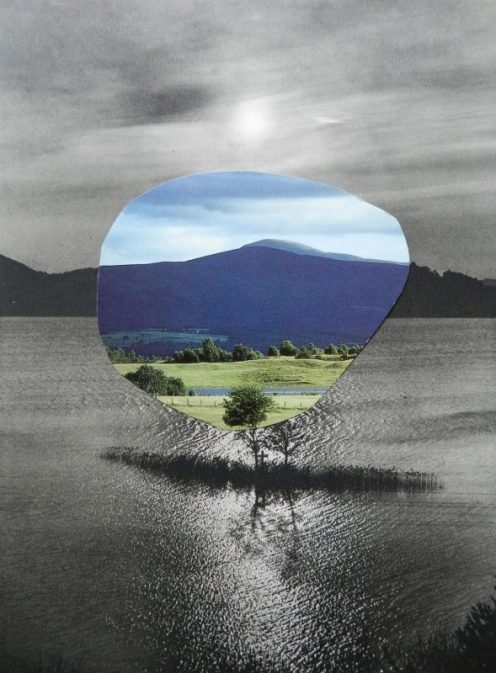 contemporary collage artists- paper collage- Windows