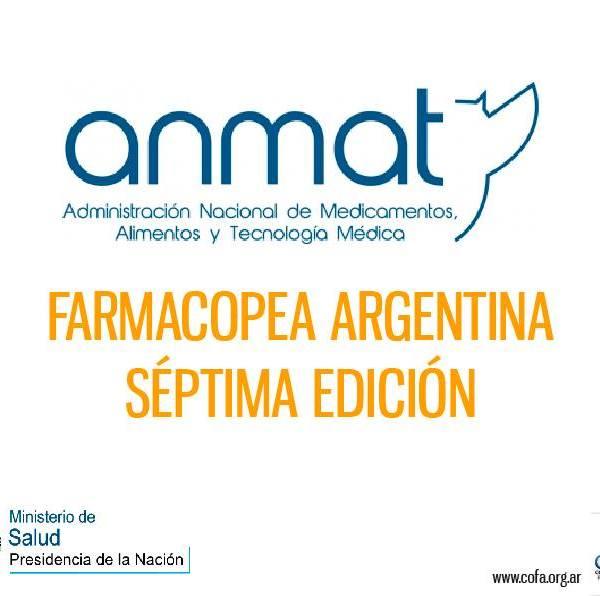 Farmacopea Nacional Argentina 7ma. edición
