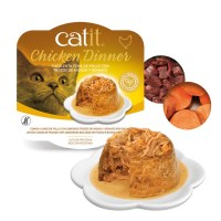 Catit Dinner de pollo, hígado y boniato con ingredientes