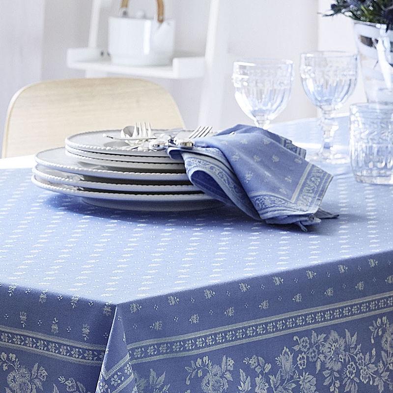 serviettes linge de table provencal avec protection antitaches tisse jacquard haut de gamme