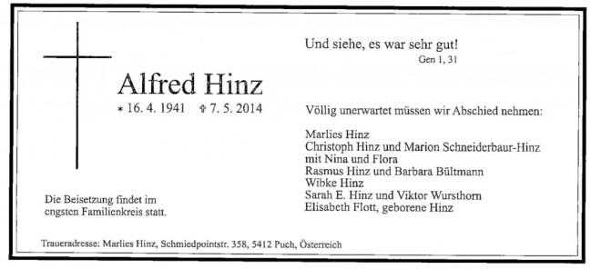 140507 Trauerkarte Hinz