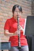 Yi Yun Hoh spielte auf ihrer Klarinette.