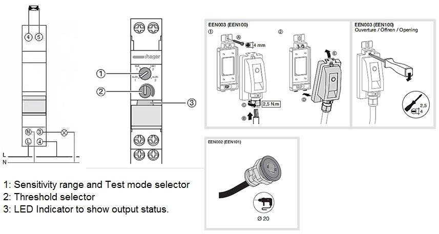 New Light Sensitive Switch Hager