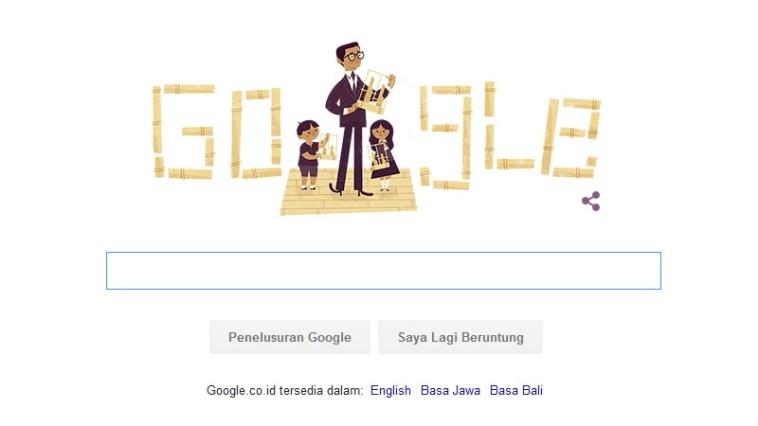 Daeng Soetigna mejeng di Google Doodle hari ini, saha sih?