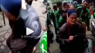 Gak ikut demo, ibu driver ojok ini dihukum rekannya, nggak punya hati nurani!