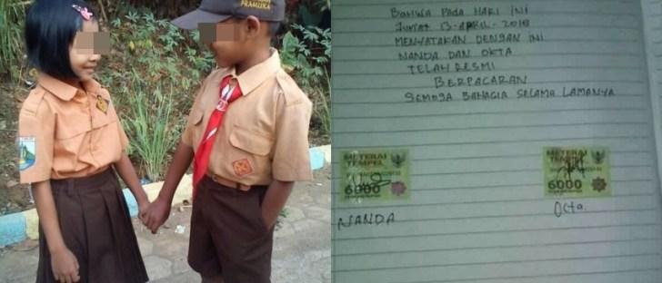 Pakai materai Rp 6.000, surat cinta kids jaman now ini viral, korban Dilan nih!