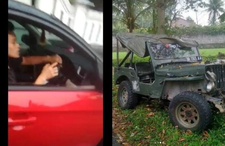 Video pengejaran pelaku tabrak lari di Purworejo ini viral, ada miras di mobil pelaku