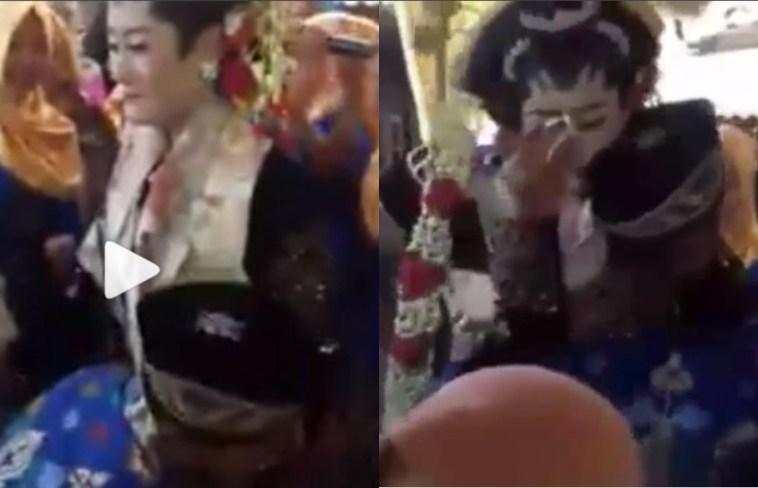 Video wanita nangis digendong 'pria lain' di hari pernikahan ini viral, ternyata ada kisah haru dibaliknya
