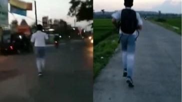Lari dari sekolah ke rumah, cara siswa SMAN 1 Cawas rayakan kelulusan ini bikin salut