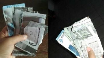 Ambil uang dari bank untuk keperluan lebaran, kakek ini kaget lihat uangnya jadi begini, astagfirullah!