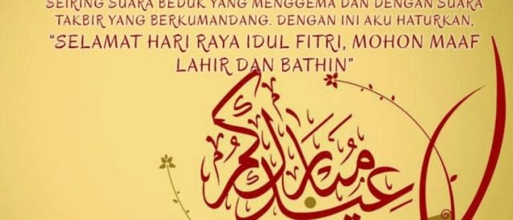 Kata-kata ucapan selamat hari raya Idul Fitri 1439 H paling menyentuh