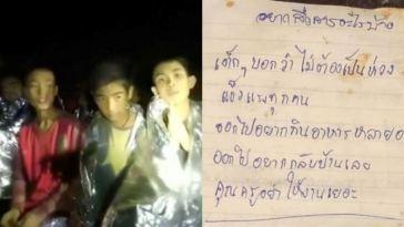 Masih terjebak dalam gua, isi surat yang ditulis remaja Thailand ini bikin terenyuh