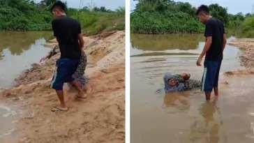 Tak dibelikan motor, anak ini ceburkan ibu kandungnya sendiri ke sungai