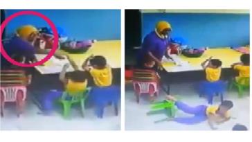 Viral, video oknum guru TK tampar anak didiknya hingga jatuh dari kursi beredar luas, netizen kecam aksinya