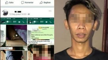 Seorang oknum driver ojek online ditangkap polisi gara-gara sebar video bugil mantan pacarnya di Facebook