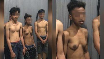 Viral foto tiga pemuda diduga pelaku pencurian, netizen salfok pada buah dada salah satu pelaku