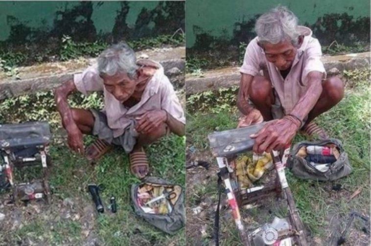 Bikin terharu! Demi bertahan hidup kakek ini rela jadi tukang cukur keliling hanya bertarif Rp 5 Ribu
