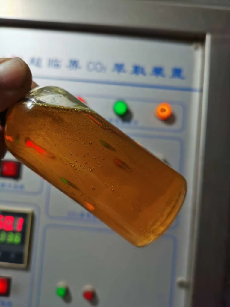 Supercritical CO2 extraction of frankincense oil