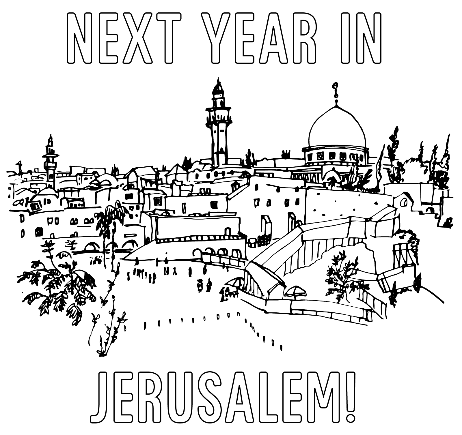 Next Year In Jerusalem Coloring Page