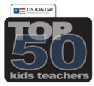 US Kids Top 50 Kids Teacher Logo
