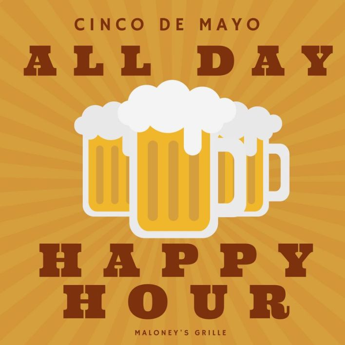 Happy Hour All Day on Cinco de Mayo