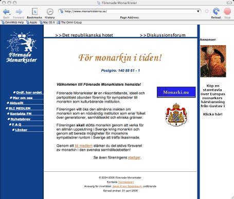 skärmdump på hemsida
