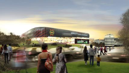Bild på arenan från sydsidan