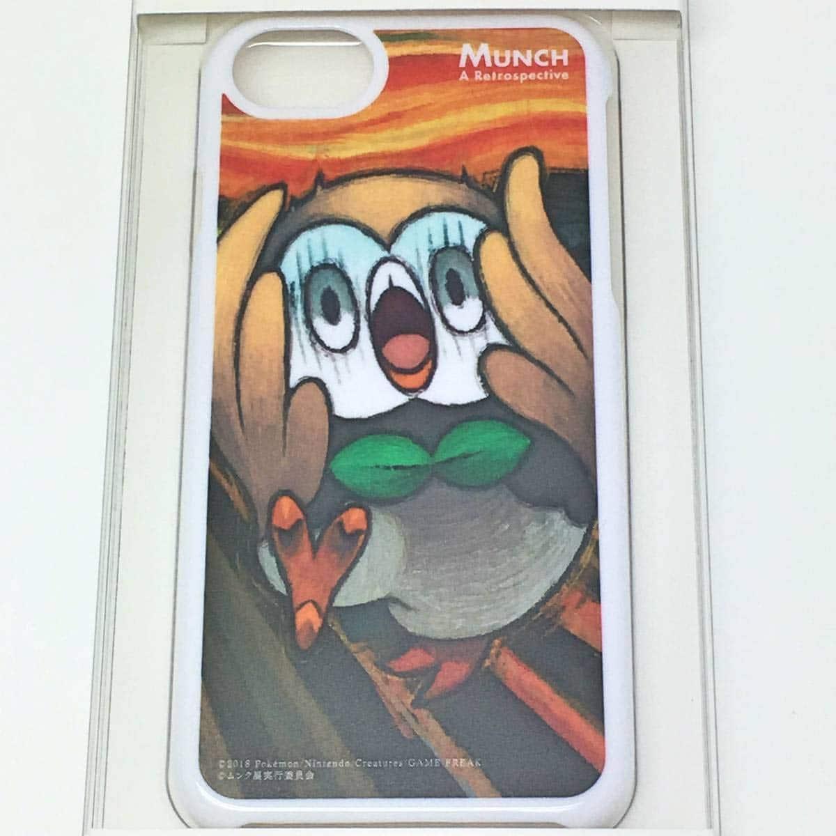 ムンク展 ポケモン コラボ iPhoneケース モクロー iPhone 8/7/6s/6 用シェルカバー スマホケース 限定 グッズ 叫び