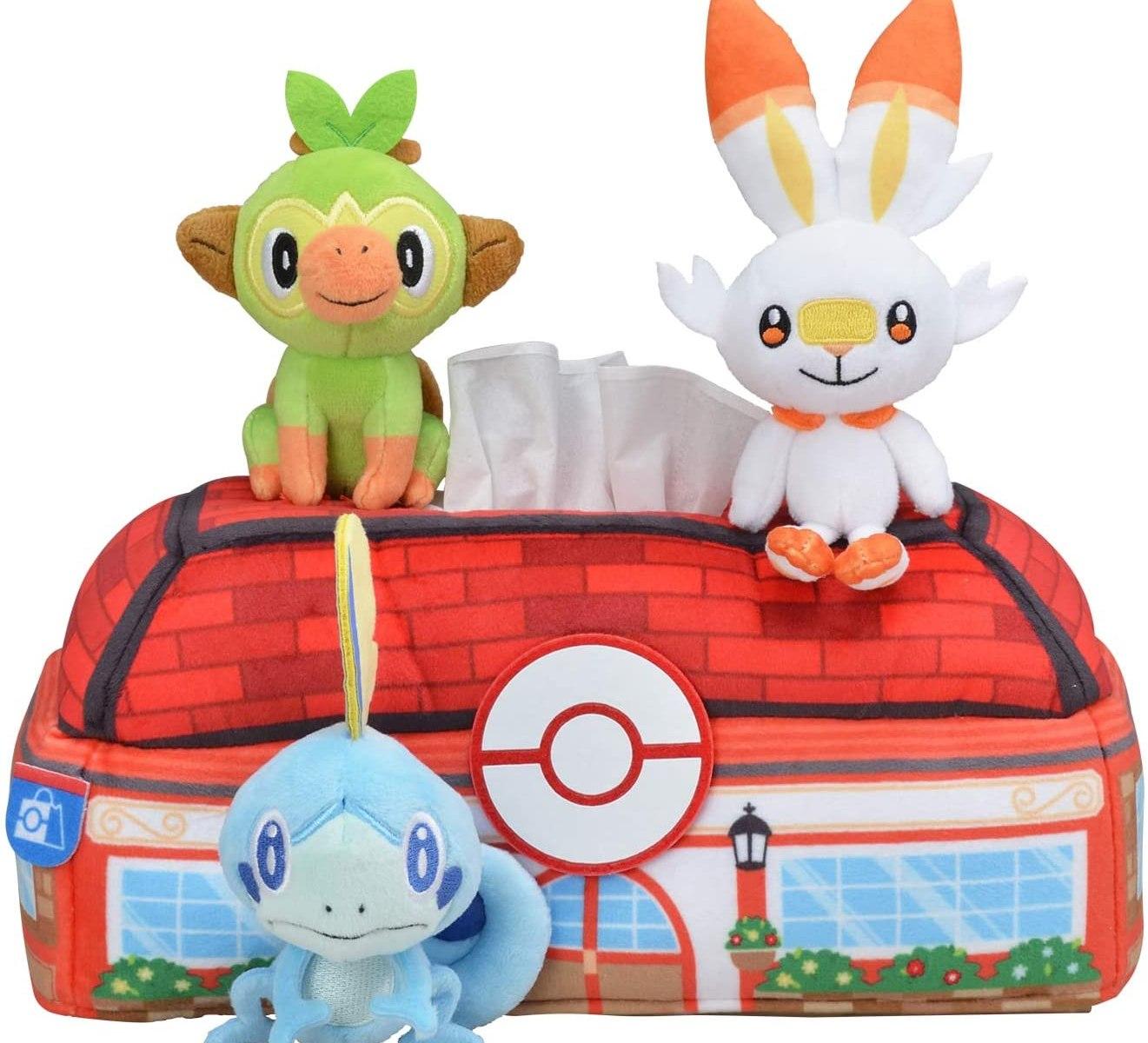 ティッシュボックスカバー Pokemon GalarTabi サルノリ&ヒバニー&メッソン