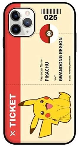 iPhone11 ポケモン ピカチュウ レッドチケット バンパー型 2重構造 カード収納が可能 ハード ケース