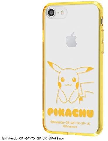 アイフォン iPhone SE(第2世代) iPhone 8 iPhone 7 ポケットモンスター ポケモン pokemon キャラクター クリア ハイブリッド ケース ピカチュウ