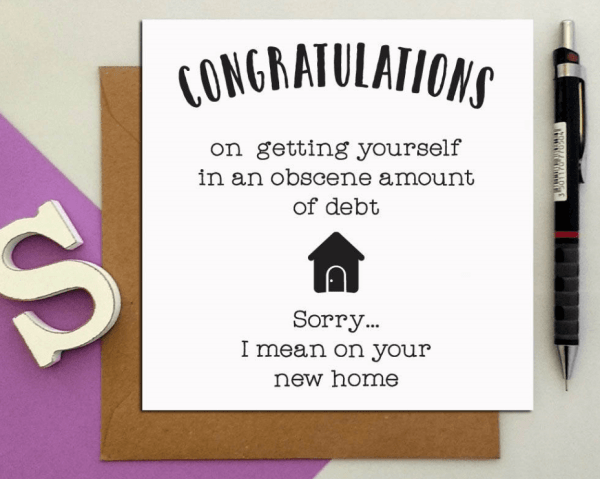 Congratulations on your new home funny greeting card